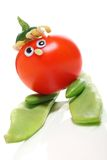 Tomato skier Stock Photography