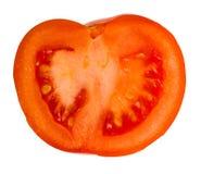 Tomato slice. On white background Stock Photography