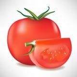 Tomato and slice vector illustration