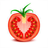Tomato. A slice of tomato Royalty Free Stock Images