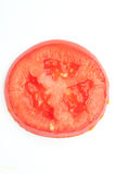 Tomato slice closeup Royalty Free Stock Image
