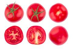 Tomato slice isolated on white background. Stock Photo