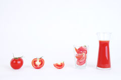 Tomato and sliced tomato prepare for tomato juice Royalty Free Stock Image