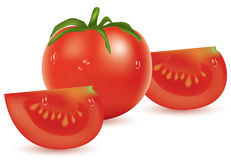 Tomato and slices Royalty Free Stock Image