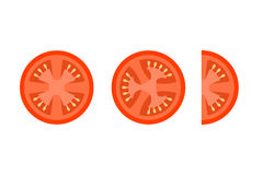 Tomato Slices Flat Vector Icons For Food Decor Royalty Free Stock Photo