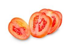 Tomato slices isolated on white background Stock Photos
