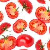 Tomato slices seamless wallpaper Stock Photography