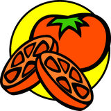 tomato and slices vector illustration Royalty Free Stock Photo