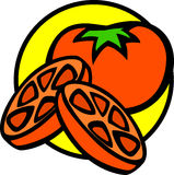 tomato and slices vector illustration Stock Photo