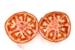 Tomato slices. On a white background Royalty Free Stock Photo