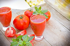 Tomato smoothie - tomato juice Royalty Free Stock Photo