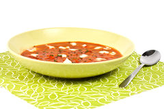 Tomato soop with chopped parsley Royalty Free Stock Photo