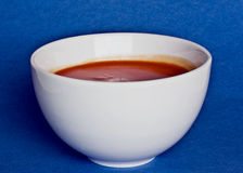soup. Warm tomato soup in a bowl Royalty Free Stock Photo