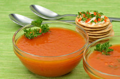 Tomato soup Royalty Free Stock Images