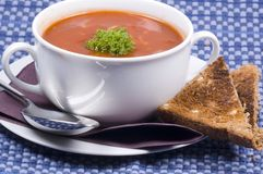 Tomato soup. Some delicious home made tomato soup royalty free stock photography