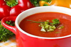 Tomato soup. Stock Photo