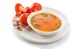 Tomato soup . Royalty Free Stock Photography