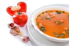Tomato soup . Stock Image