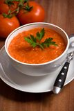 Tomato soup. White bowl of tomato soup Stock Photo