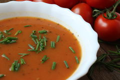 Tomato soup 4 Royalty Free Stock Image