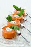 Tomato Soup Appetizer Stock Photo
