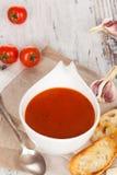 Tomato soup background. Royalty Free Stock Photos