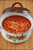 Tomato Soup with beans Stock Photography