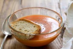 Tomato soup in bowl Stock Image