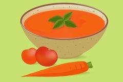 Tomato soup in a bowl Stock Photos