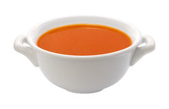 Tomato Soup Bowl (clipping path) Royalty Free Stock Photos