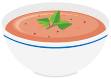 Tomato soup in bowl Royalty Free Stock Photo