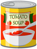 Tomato soup in can Stock Photo