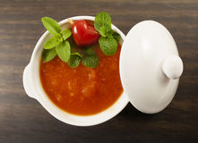 Tomato soup. Royalty Free Stock Photo