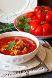 Tomato soup. Royalty Free Stock Photography