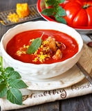Tomato soup. Stock Photography