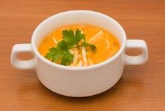 Tomato soup with egg slapjacks Royalty Free Stock Photo