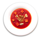 Tomato soup gazpacho Royalty Free Stock Images