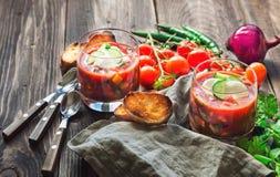 Tomato soup gazpacho Royalty Free Stock Photography