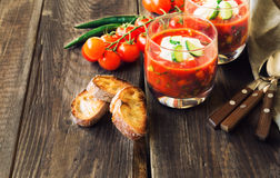 Tomato soup gazpacho Royalty Free Stock Photo