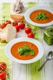 Tomato soup with gremolata Royalty Free Stock Image