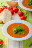 Tomato soup with gremolata Royalty Free Stock Photo