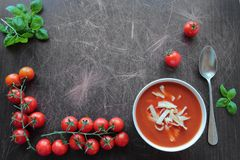Tomato soup ingredients Royalty Free Stock Photos