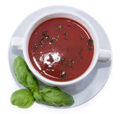 Tomato Soup isolated on white Stock Photography