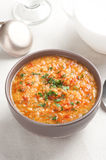 Tomato soup with lentil Stock Image