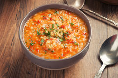 Tomato soup with lentil Royalty Free Stock Photography