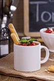 Tomato soup in a mug Royalty Free Stock Photography