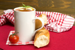 Tomato soup in a mug Stock Photography