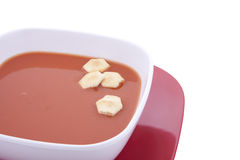 Tomato Soup with Oyster Crakcers Stock Image