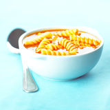 Tomato soup with pasta Royalty Free Stock Images