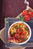 Tomato soup with pasta Royalty Free Stock Photo